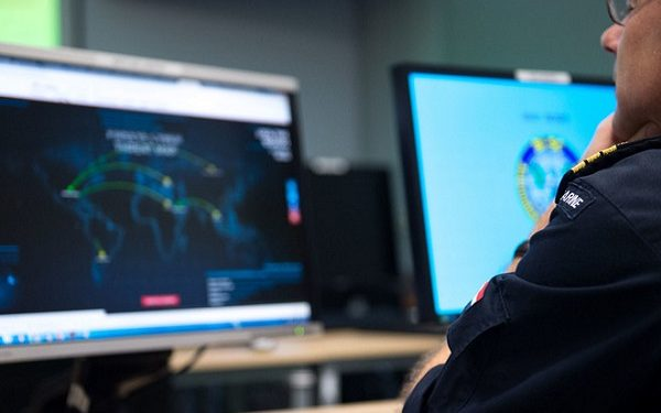 On November 30, 2016, LTC Alex De Nijs,  Dutch Navy from Supreme Headquarters Allied Powers Europe Cyber Division Defense Operation department, scrutinize a live time cyber threat worldmap website during Exercise Cyber Coalition 16 in Tallin, Estonia. This Cyber defense exercise, organized and run by NATO's Allied Command Transformation (ACT), will have participants from 27 NATO nations, numerous NATO Partner nations, NATO Computer Incident Response Capability (NCIRC) Technical & Coordination Centres, the European Union Cyber Defence Staff, ensures that NATO and its Partners will be prepared to respond, collectively if necessary, when confronted by any threat and will be able to do so in accordance with international law, including the UN Charter, as applicable. (NATO Photo by NIC Edouard Bocquet)