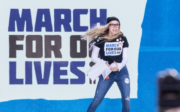 Parkland shooting survivor Delany Tarr, speaks at the March For Our Lives Rally in Washington, D.C. on Saturday, March 24, 2018. (Photo by Cheriss May) (Photo by Cheriss May/NurPhoto via Getty Images)