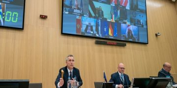 Meeting of the North Atlantic Council in Foreign Ministers' session via tele-conference with opening remarks by NATO Secretary General Jens Stoltenberg