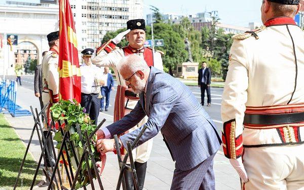 Претседателот на Собранието на Северна Македонија, Талат Џафери, на чествување на Илинден во Скопје, 02.08.2021