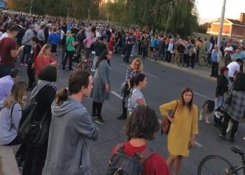 Протест против градежниот хаос во општина Аеродром, 9 октомври 2018. Извор: граѓанска новинарка