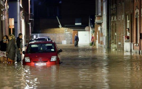 Белгија, силно невреме и поплави