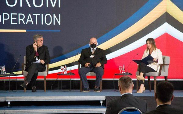 Претседателот на Стопанската комора на Северна Македонија, Бранко Азески На економскиот форум во Скопје, 29 јули, 2021 фотографија: Огнен Бошњаковски