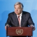epa07864698 United Nations Secretary-General Antonio Guterres speaks at the start of the 2019 Climate Action Summit which is being held ahead of the General Debate of the General Assembly of the United Nations at United Nations Headquarters in New York, New York, USA, 23 September 2019. World Leaders have been invited to speak at the event, which was organized by the United Nations Secretary-General Antonio Guterres, for the purpose of proposing plans for addressing global climate change. The General Debate of the 74th session of the UN General Assembly begins on 24 September.  EPA-EFE/JUSTIN LANE