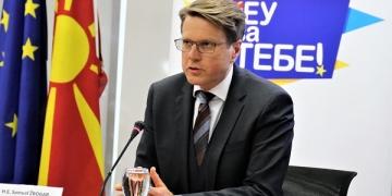 Самуел Жбогар. шеф на ЕУ Делегацијата во Скопје