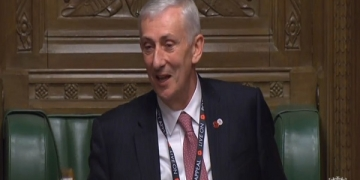 epa07972707 A grab from a handout video made available by the UK Parliamentary Recording Unit shows the new Speaker of the House Sir Lindsay Hoyle, addressing MPs after getting elected during a session of the House of Commons in London, Britain, 04 November 2019. The British parliament elected a new Speaker of the House of Commons for the first time in more than 10 years.  EPA-EFE/UK PARLIAMENTARY RECORDING UNIT HANDOUT MANDADOTY CREDIT: UK PARLIAMENTARY RECORDING UNIT  HANDOUT EDITORIAL USE ONLY/NO SALES HANDOUT EDITORIAL USE ONLY/NO SALES