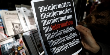 NEW YORK, USA - OCTOBER 30: A misinformation news stand is seen in Manhattan, New York, United States on October 30, 2018. The Columbia Journalism Review is aiming to educate news consumers about the dangers of fake news or disinformation. (Photo by Atilgan Ozdil/Anadolu Agency/Getty Images)