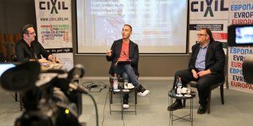 """Панел на ЦИВИЛ: """"Европските вредности – (не)возможна мисија?""""/ Фотографија Игор Чадиноски"""