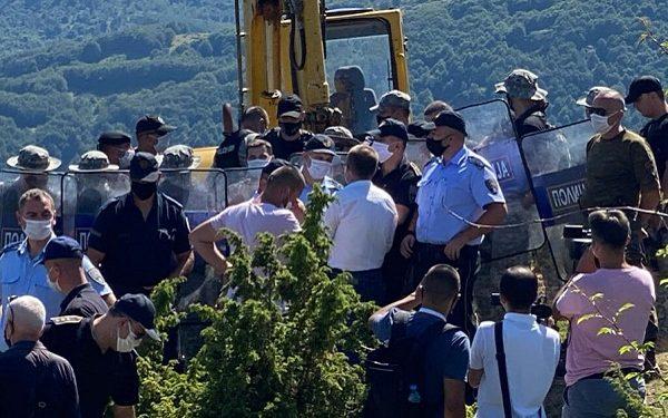 Полициска интервенција, с. Синичане, Боговиње, 29 јули 2020