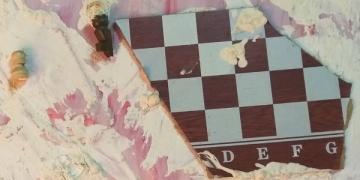 """Илуустрација: """"Војна"""" - Мирослав Стојановиќ - Шуки (фрагмент, диптих, комбинирани техники)"""