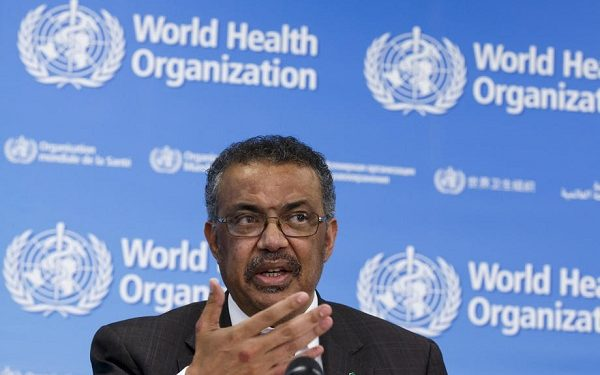 epa08195283 Tedros Adhanom Ghebreyesus, Director General of the World Health Organization (WHO), informs the media about the current situation regarding the novel coronavirus (2019-nCoV), during a press conference, at the World Health Organization (WHO) headquarters in Geneva, Switzerland, 05 February 2020.  EPA-EFE/SALVATORE DI NOLFI