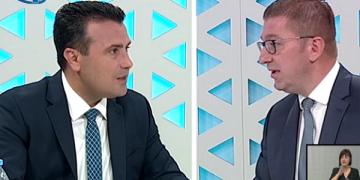 Заев и Мицкоски (монтажа на скриншот од емисија на ТВ 24)